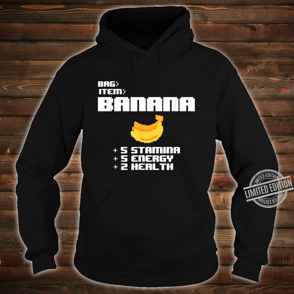Cute Kawaii 8bit Pixel Banana Fruit Video Gamer Shirt hoodie