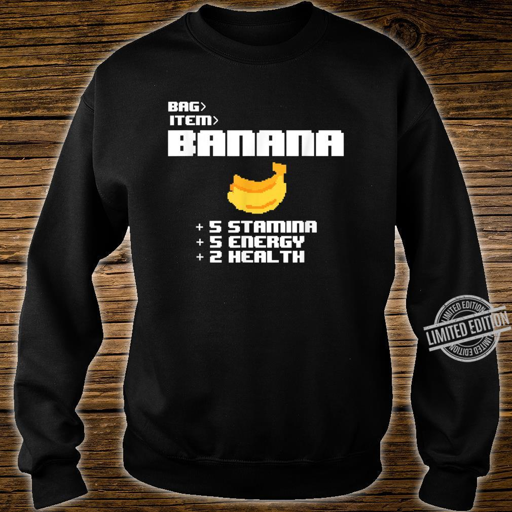 Cute Kawaii 8bit Pixel Banana Fruit Video Gamer Shirt sweater