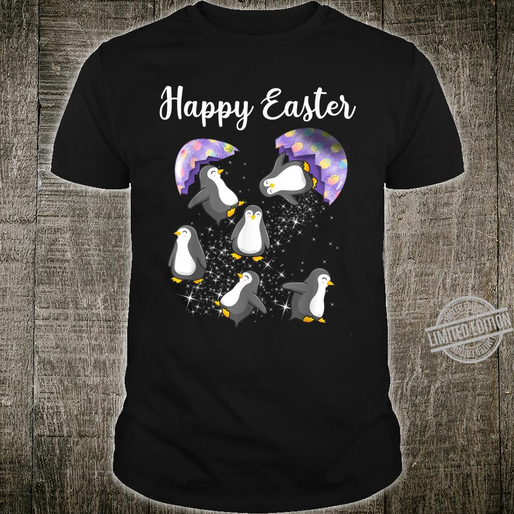 Cute Penguins Happy Easter Day Eggs Hunting Shirt