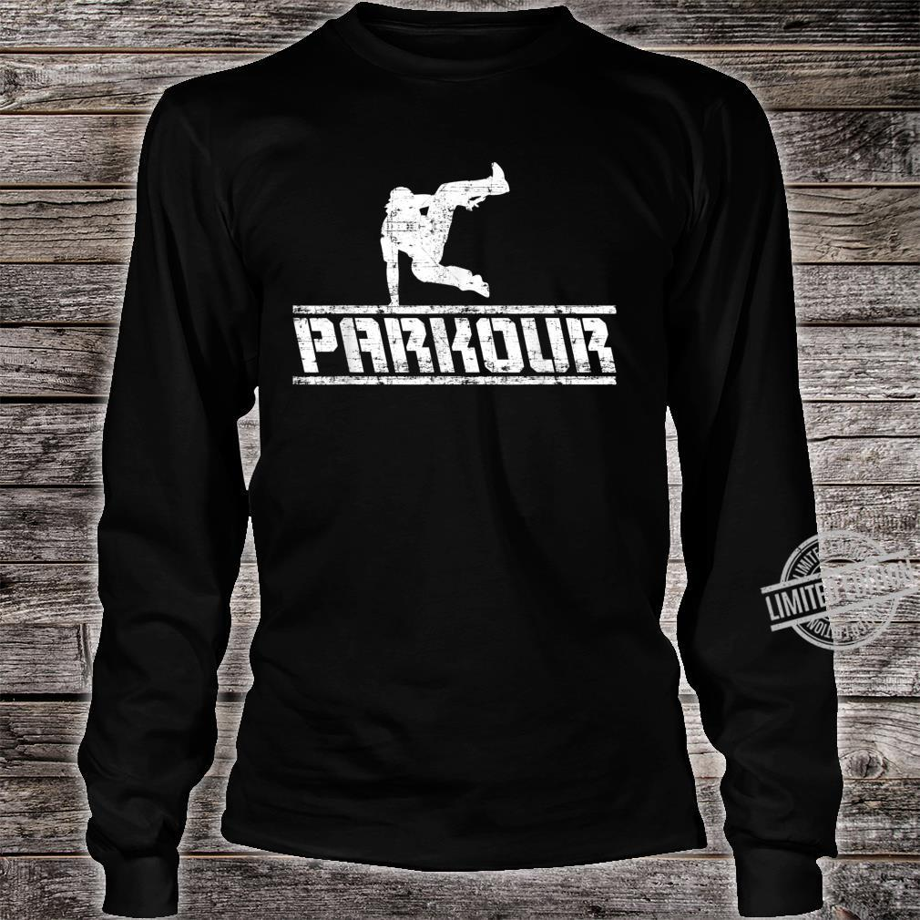 Distressed Parkour Free Running Free Runner Freestyle Shirt long sleeved