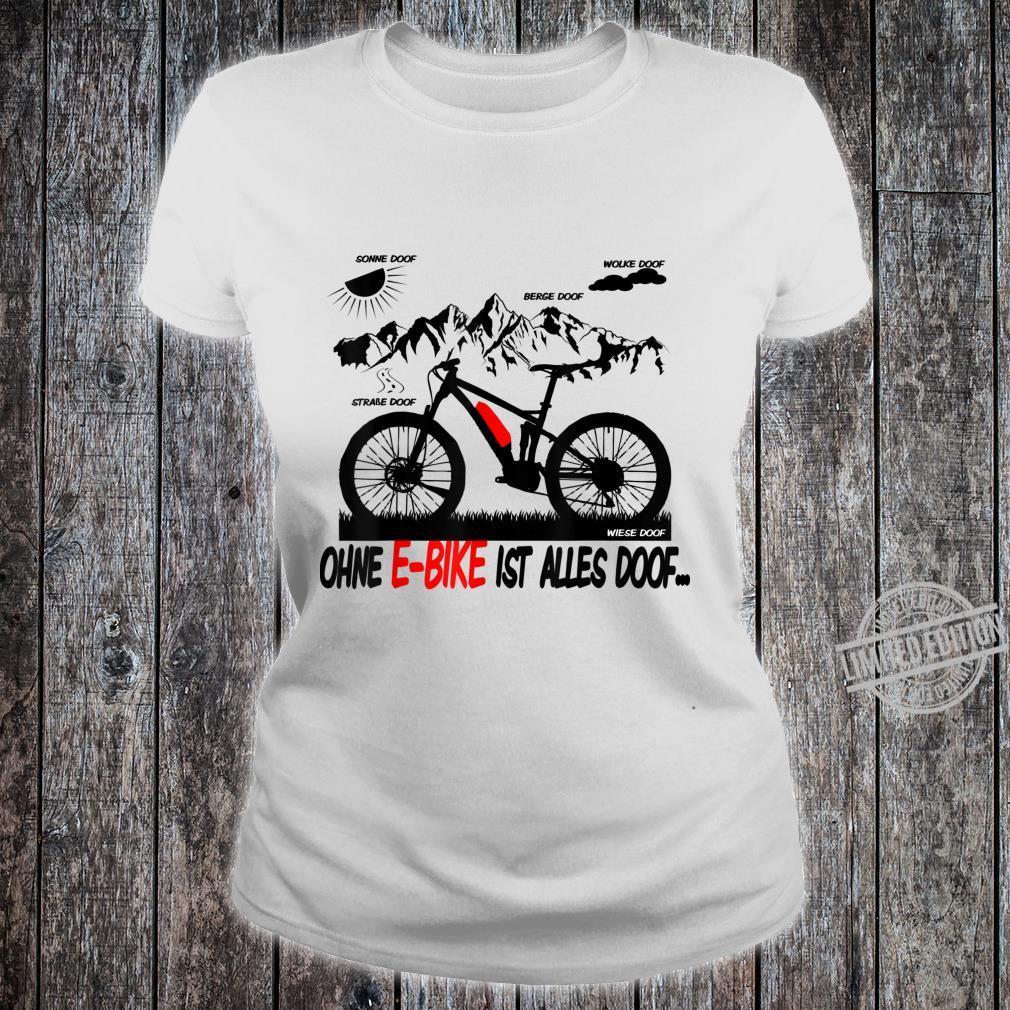 EBike Driver Shirt Ebike Pedelec Electric Bicycle Shirt ladies tee