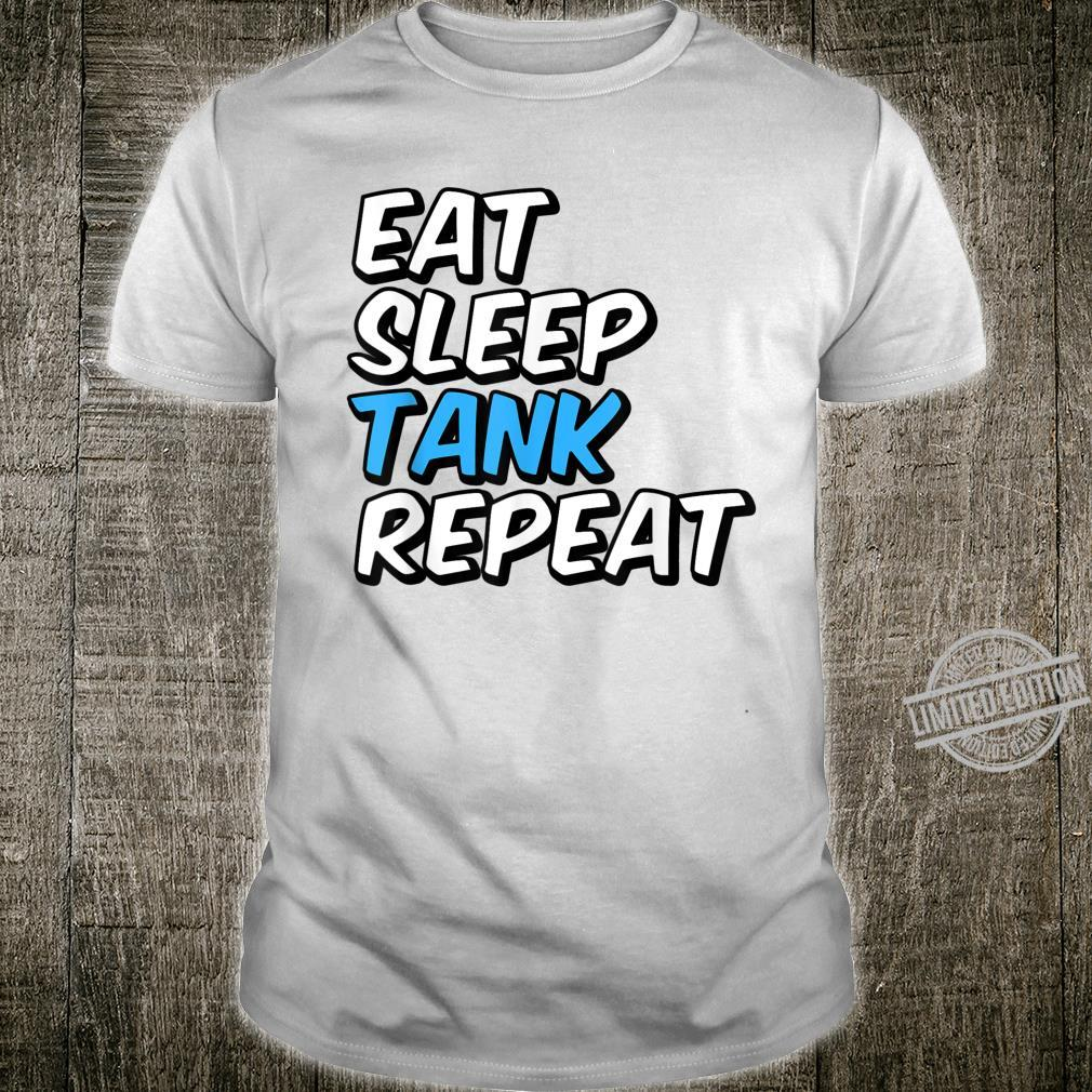 Eat Sleep Tank Repeat Shirt Knight Paladin RPG Gamer Shirt
