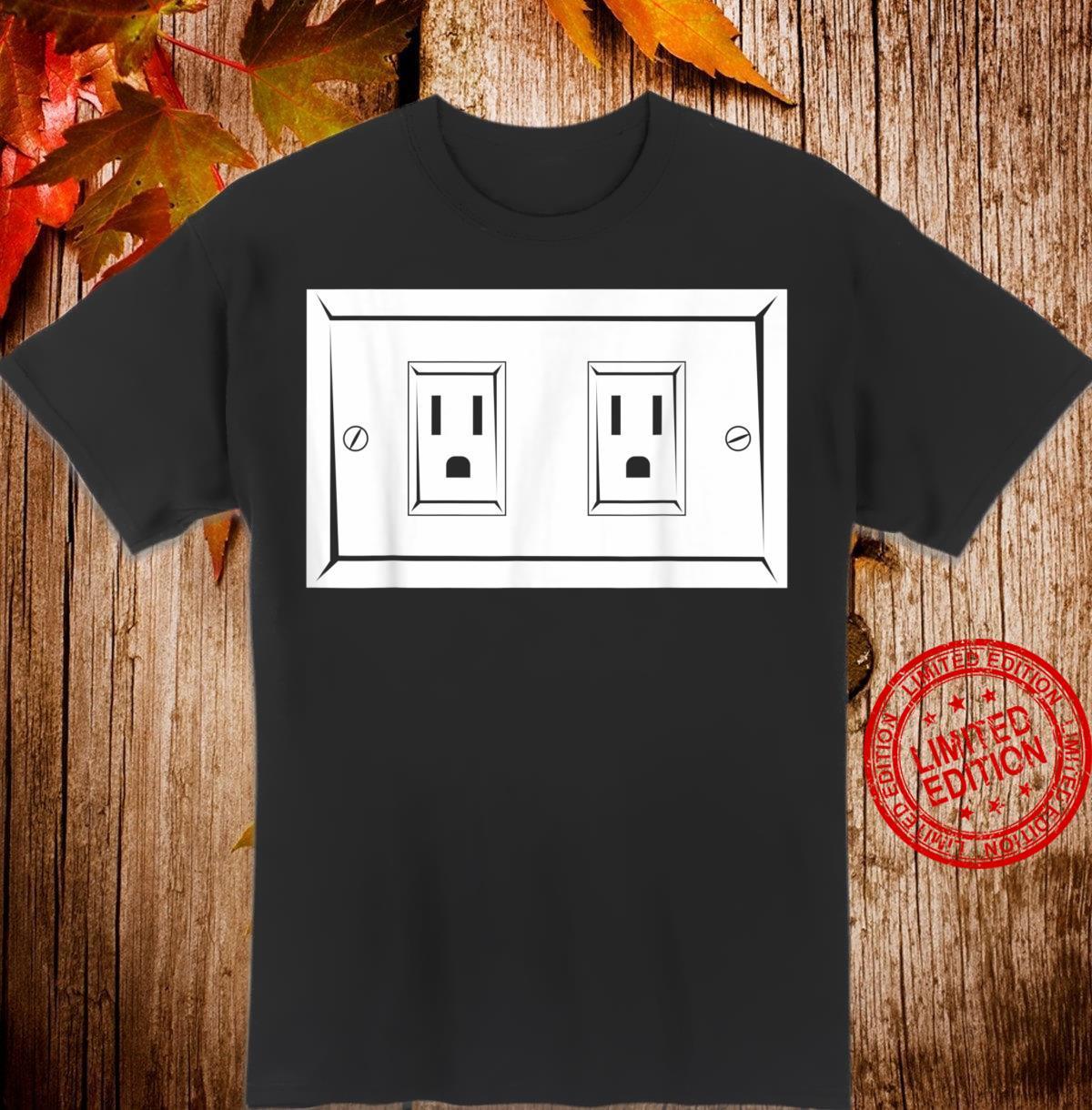 Elektrische Steckdose Lustige Elektriker Shirt