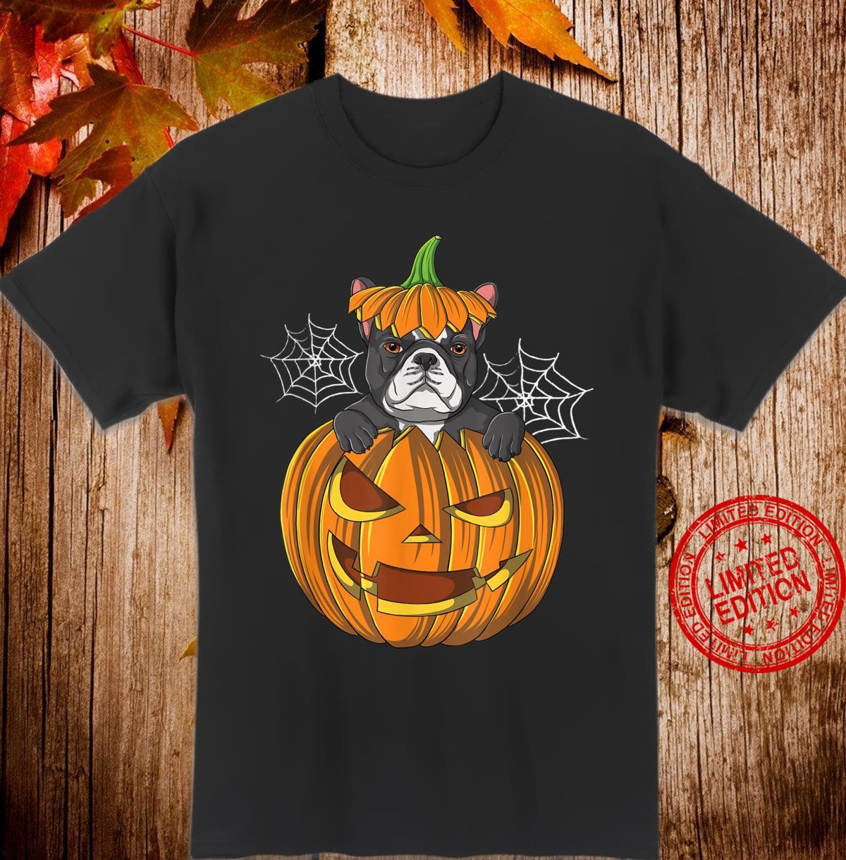 French Bulldog Pumpkin Halloween Costume For Dog Shirt