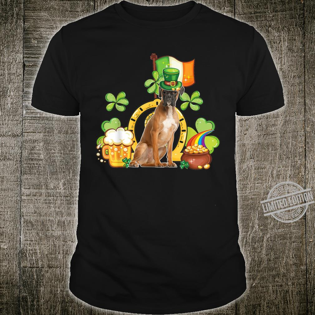 Funny Boxer St Patricks Day Leprechaun Shamrock Girl Shirt