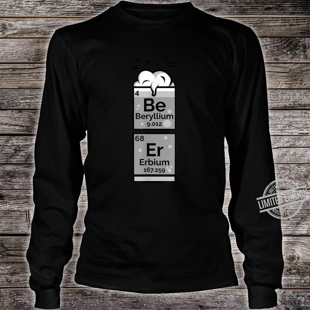 Funny Chemistry Of Beer Periodic Table Nerdy Drinking Shirt long sleeved