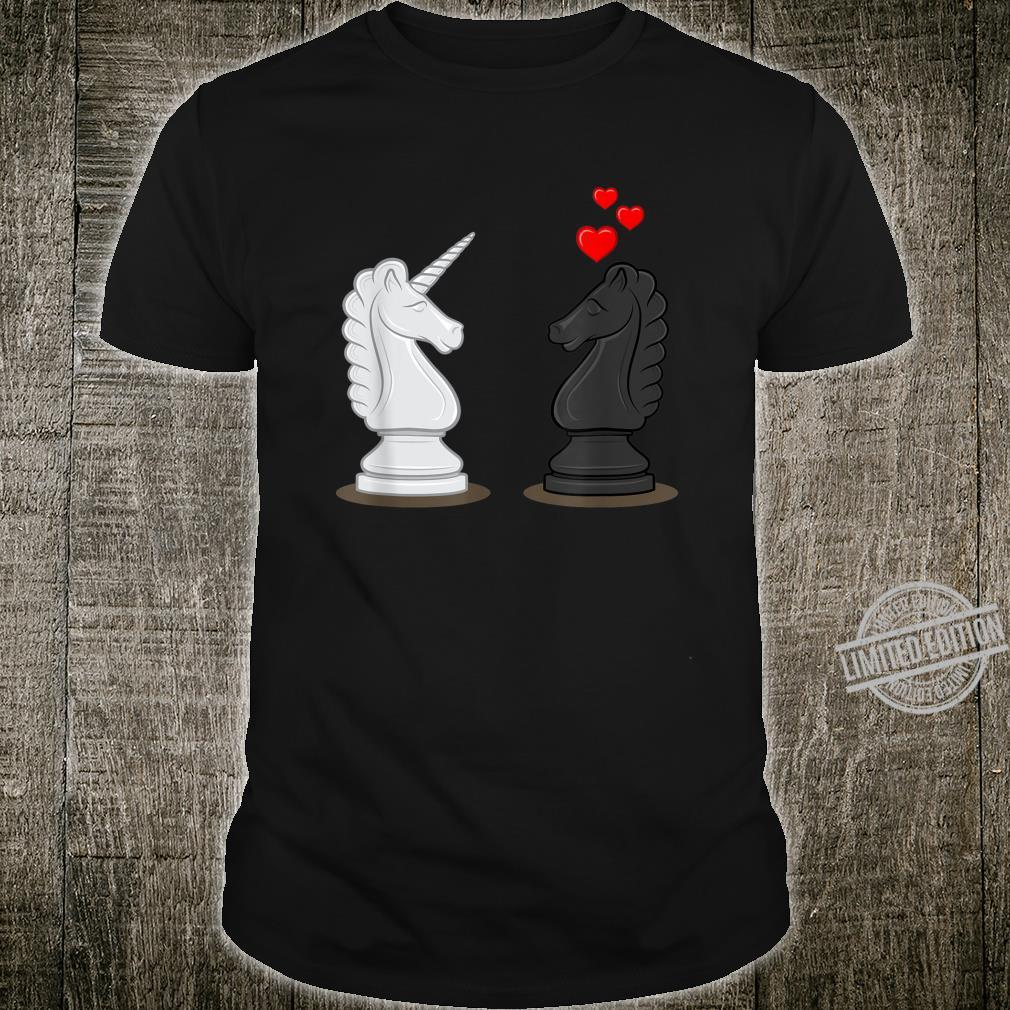 Funny Chess Knight In Love With Unicorn Shirt
