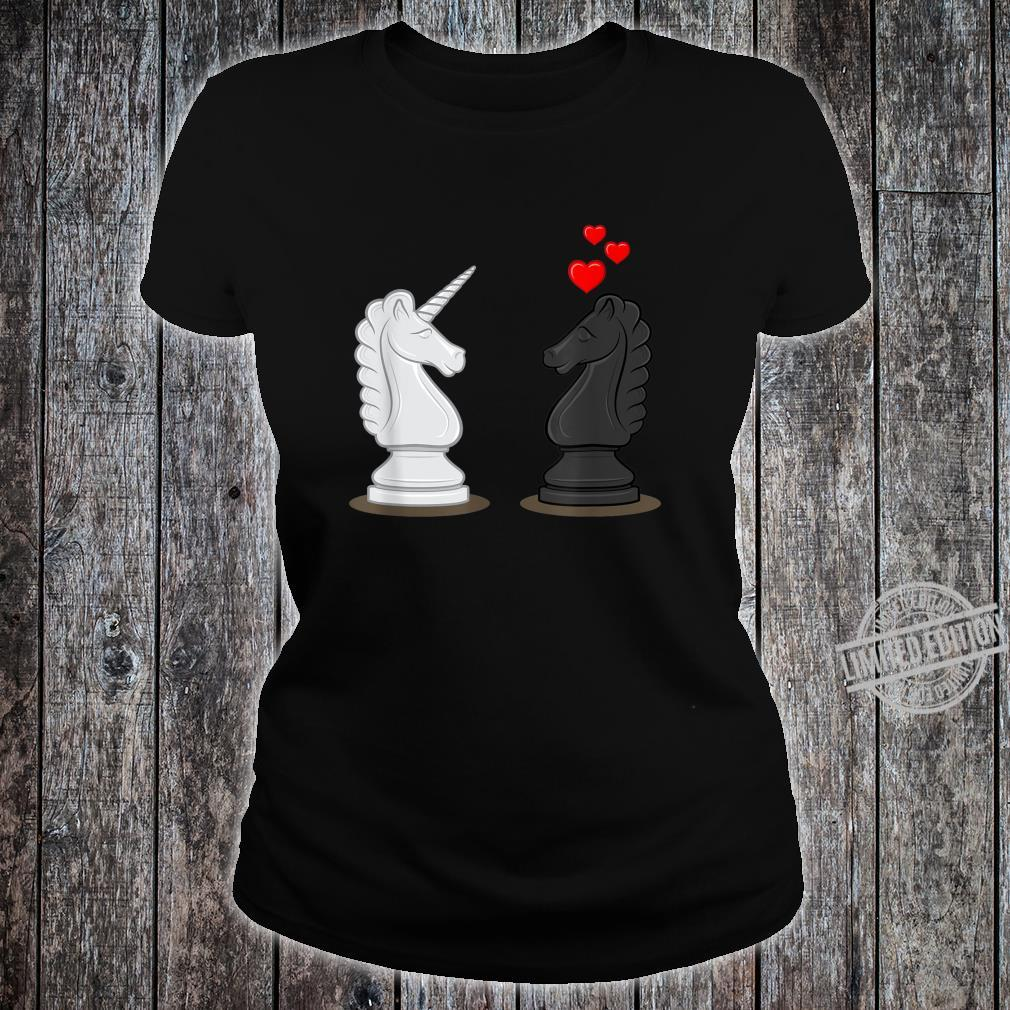 Funny Chess Knight In Love With Unicorn Shirt ladies tee