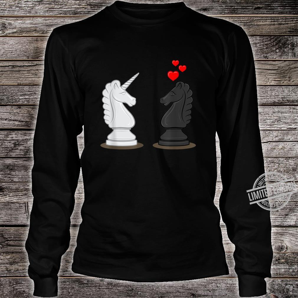 Funny Chess Knight In Love With Unicorn Shirt long sleeved