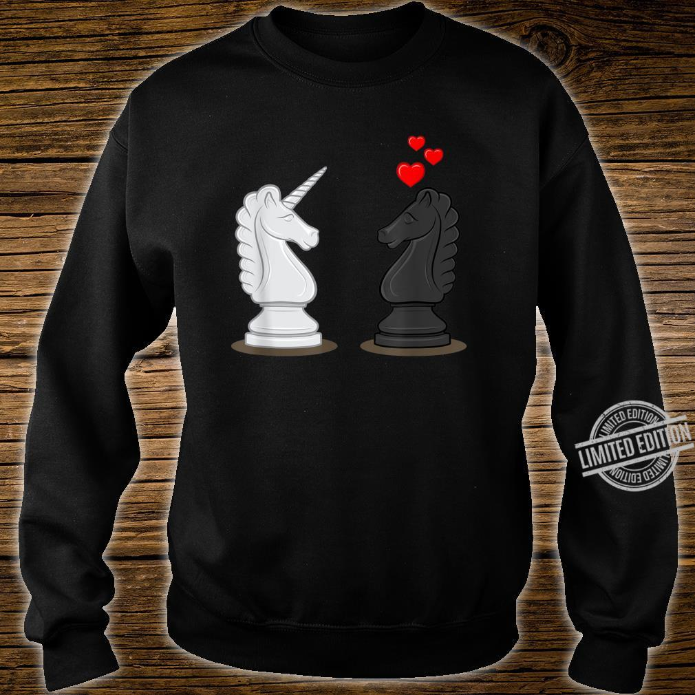 Funny Chess Knight In Love With Unicorn Shirt sweater