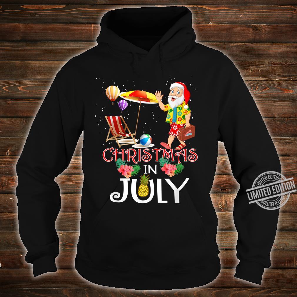 Funny Christmas in July Santa Hello Summer Celebration Shirt hoodie