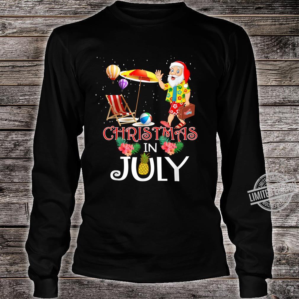 Funny Christmas in July Santa Hello Summer Celebration Shirt long sleeved