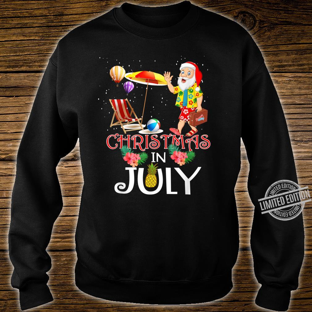 Funny Christmas in July Santa Hello Summer Celebration Shirt sweater