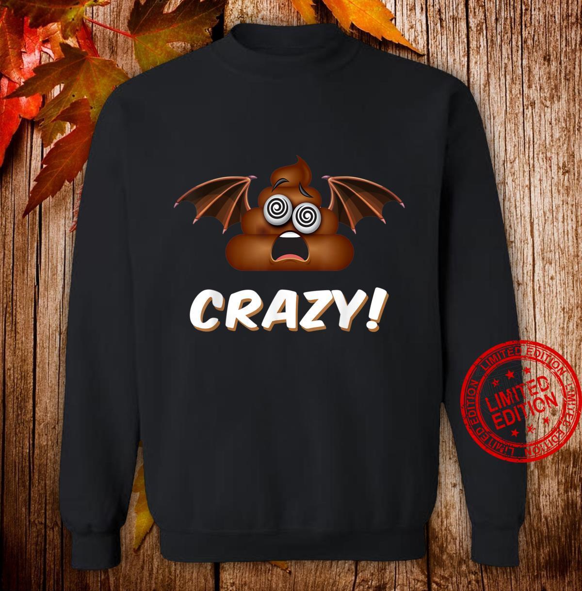 Funny Halloween Bat Shit Crazy Poop Emoji Shirt sweater