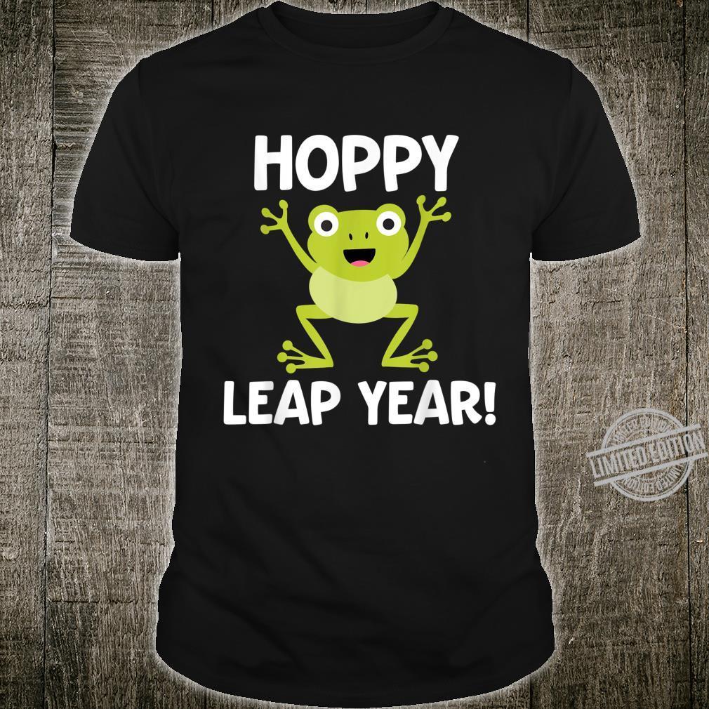 Funny Leap Year Teacher Hoppy Pun February 29 Frog Shirt