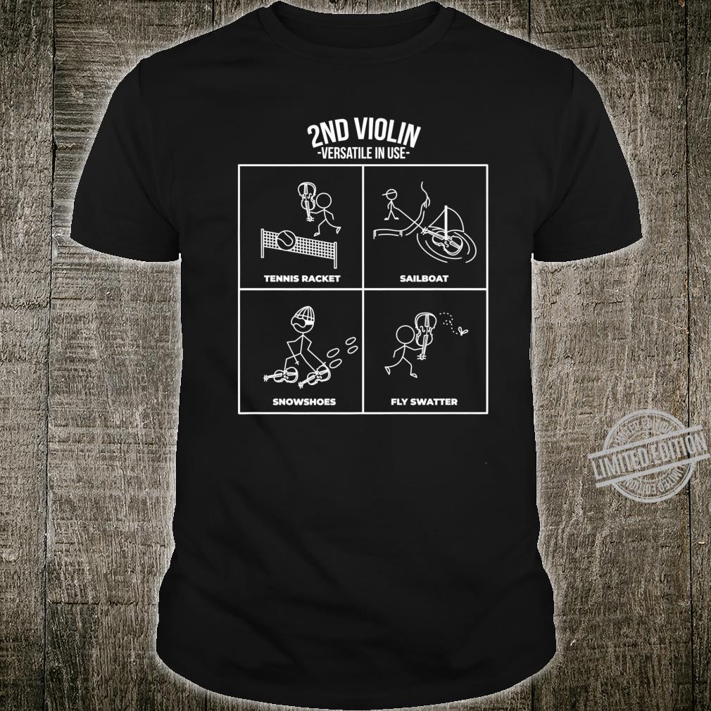 Funny Second Violin Orchestra Violinist Design Shirt