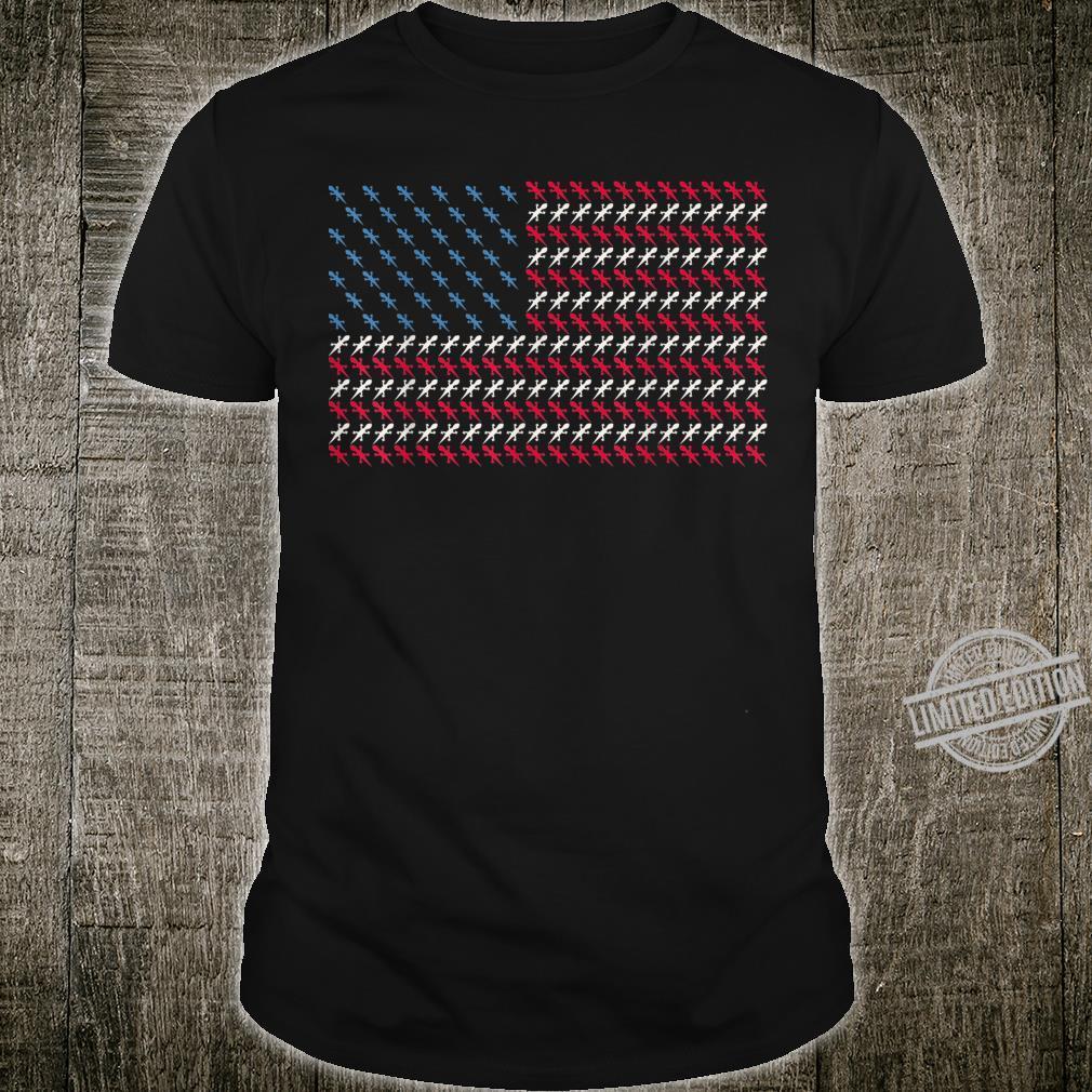 Gecko American Flag Lizard US 4th Of July Pet USA Shirt