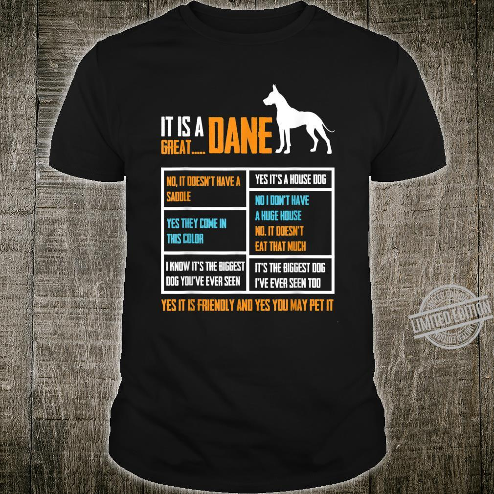 It Is A Great Dane Gift For Dog Cute Quote Father Shirt