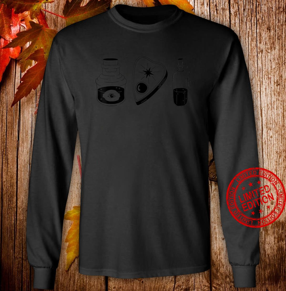Just Occult Object Things Black Shirt long sleeved