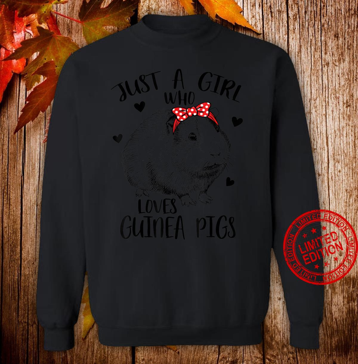 Just a Girl Who Loves Guinea Pigs Cute Guinea Pig Girls Shirt sweater