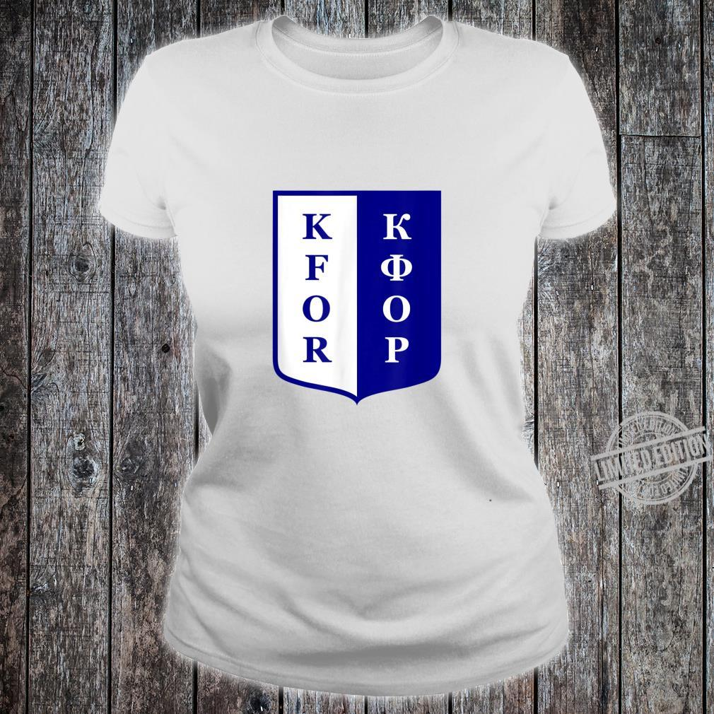 KFOR Kosovo Peacekeeping Veteran Shirt ladies tee