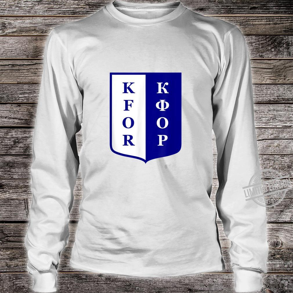 KFOR Kosovo Peacekeeping Veteran Shirt long sleeved