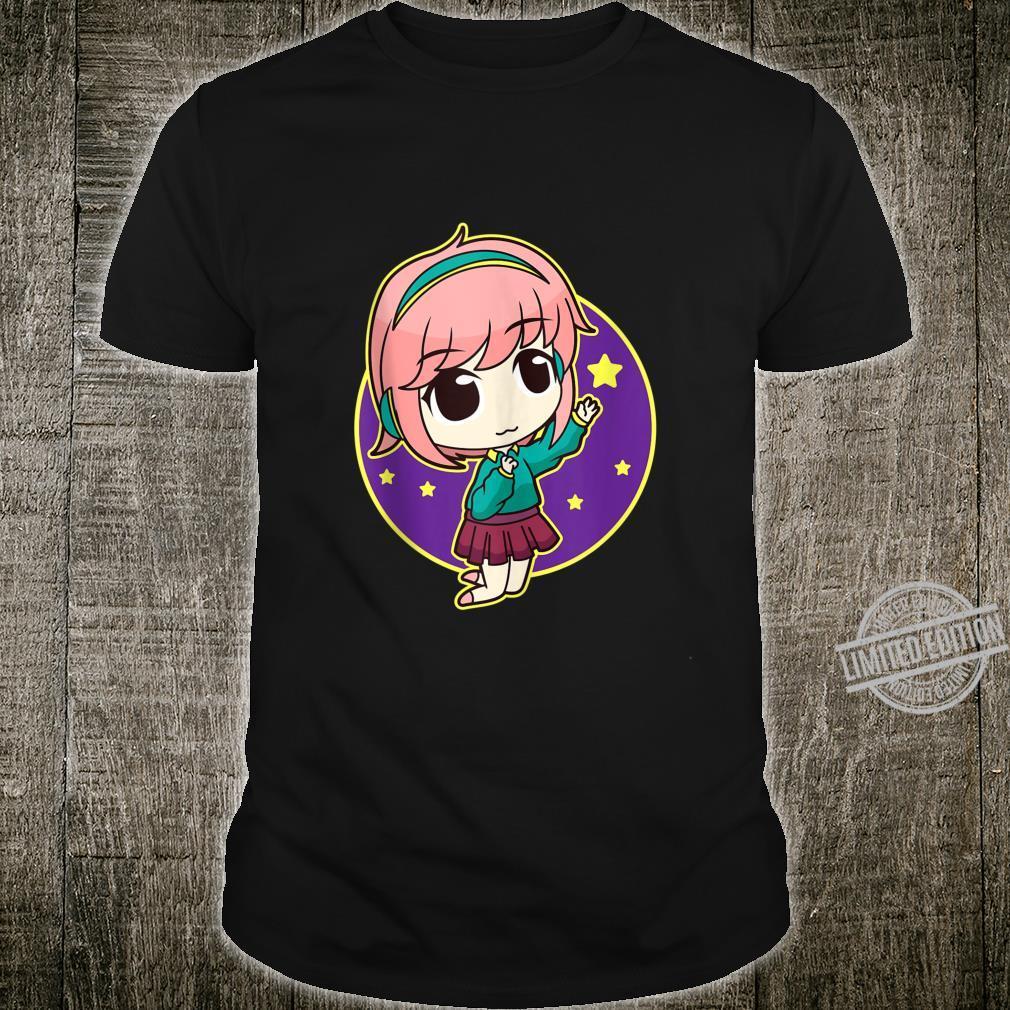 Kawaii Anime Girl Headphones Chibi Stars Mangas Shirt