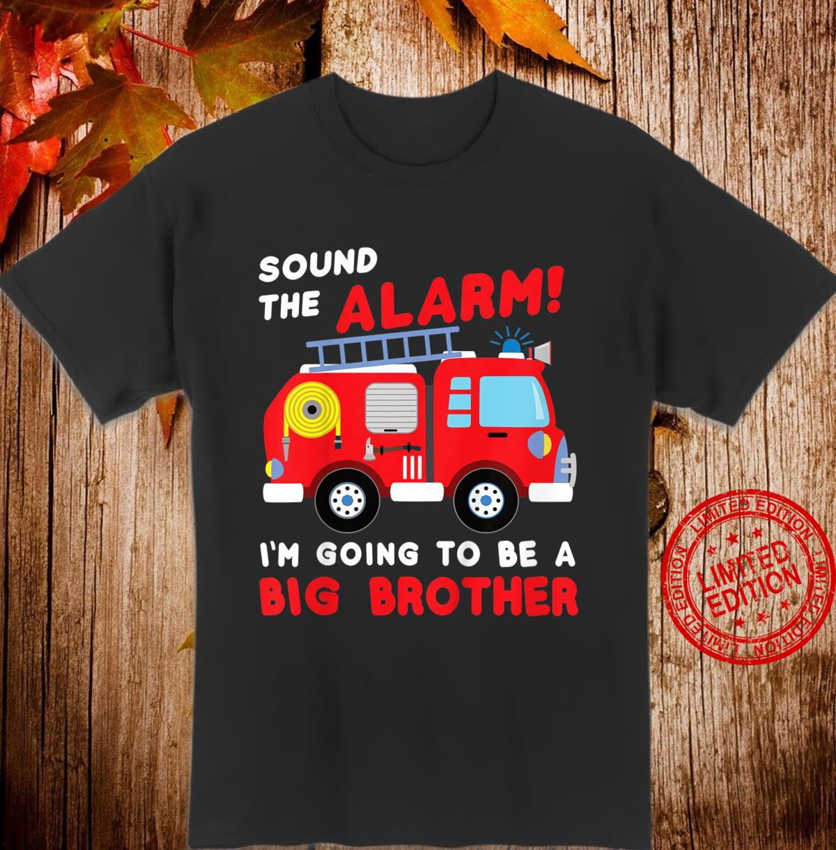 Kids Im going to be a big brother Shirt Firetruck baby reveal Shirt