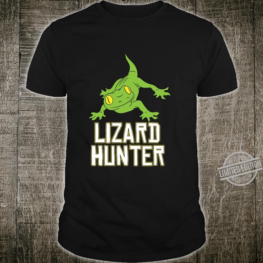 Lizard Reptile Idea Cute Lizard Hunter Shirt