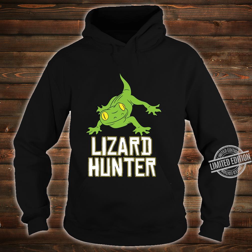 Lizard Reptile Idea Cute Lizard Hunter Shirt hoodie