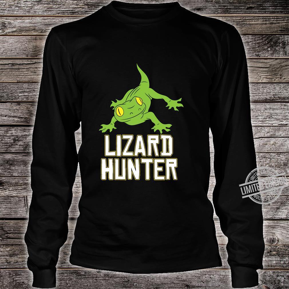 Lizard Reptile Idea Cute Lizard Hunter Shirt long sleeved