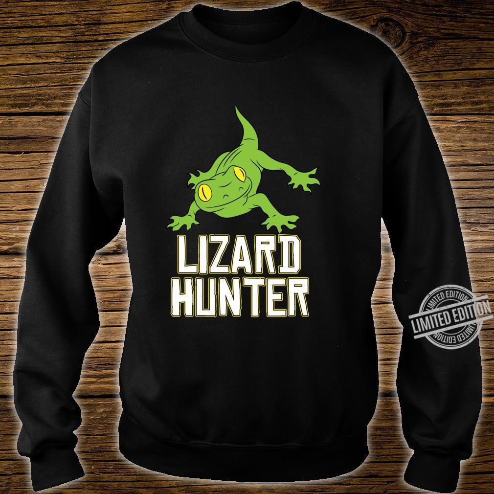 Lizard Reptile Idea Cute Lizard Hunter Shirt sweater