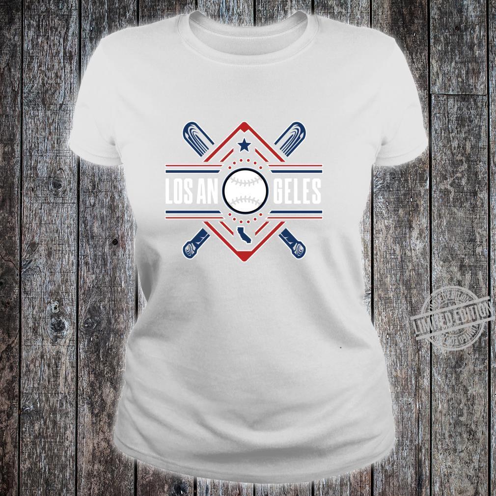 Los Angeles Bats & Field AllStar Home Run Baseball Ballpark Shirt ladies tee