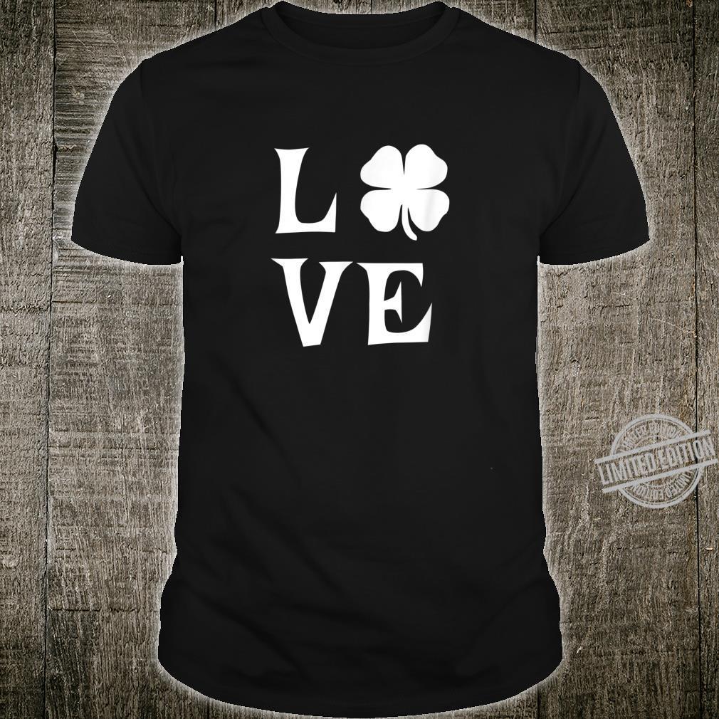 Love Shamrock St Patrick's Day Heart Irish Shirt