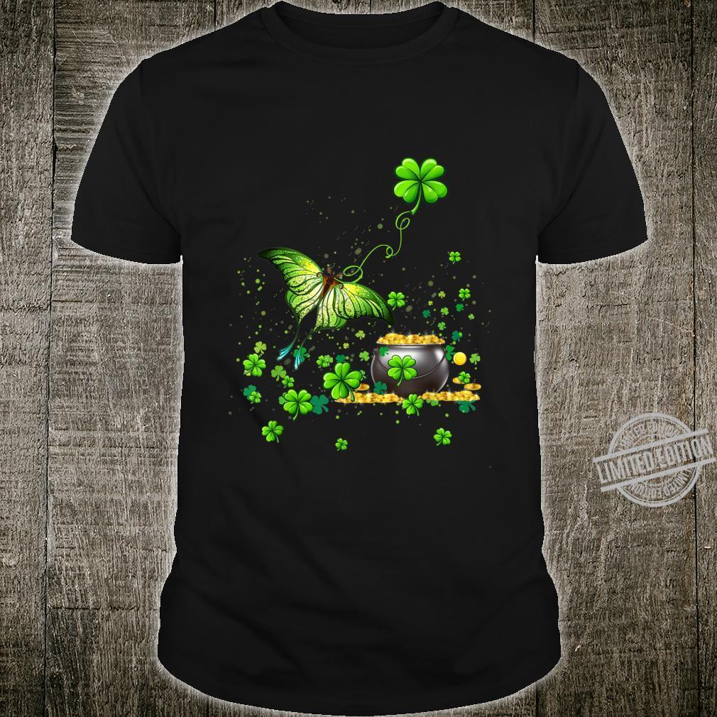 Lucky Butterfly Shamrock St Patricks Day Shirt