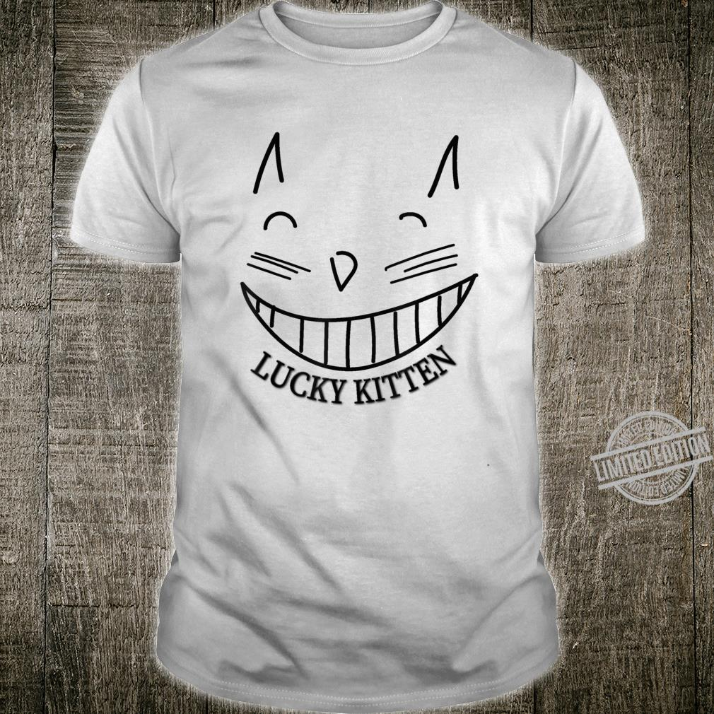Lucky Kitten grinning cat cool Shirt