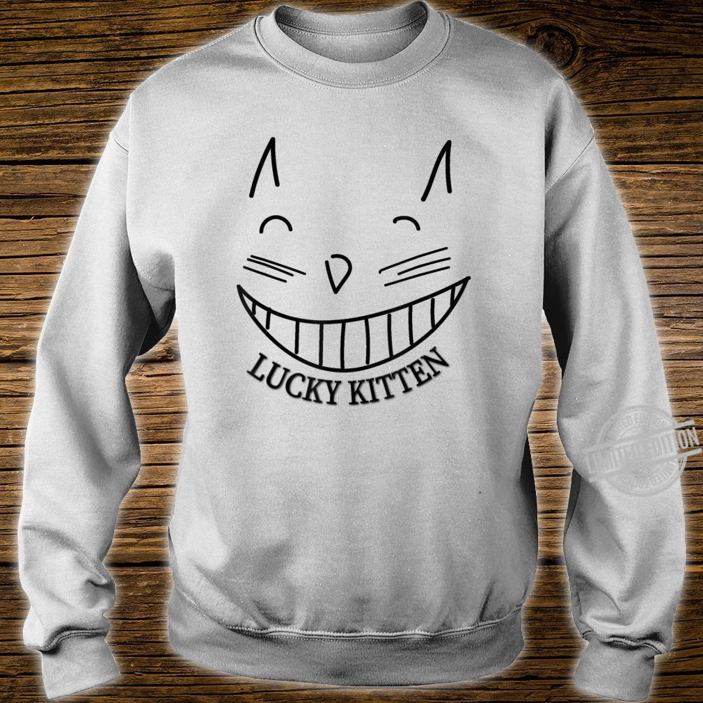 Lucky Kitten grinning cat cool Shirt sweater