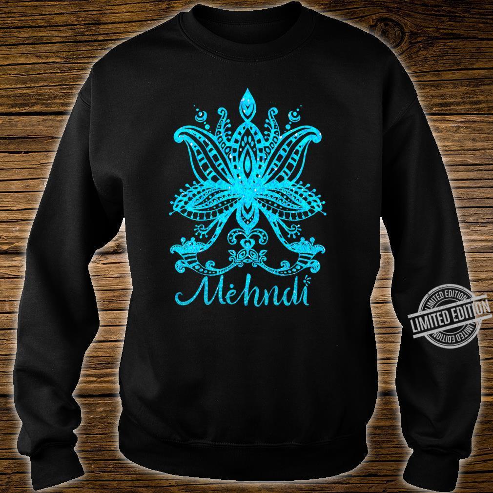 Mehndi Shirt Mandala Design Turquoise Blue Mehandi Art Shirt sweater