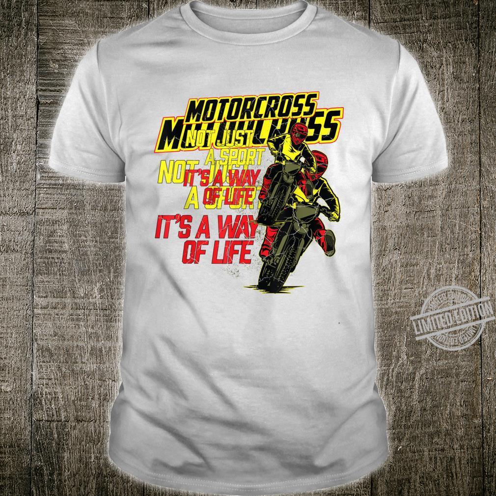 Motocross Dirt Racing Bike Quote Motorcycle Clothing Shirt