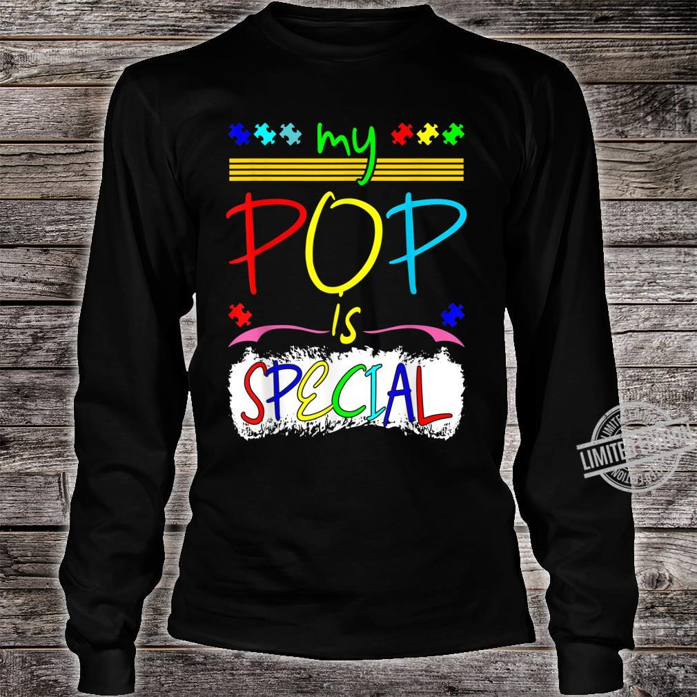 My Pop Is Special April Autism Awareness Shirt long sleeved