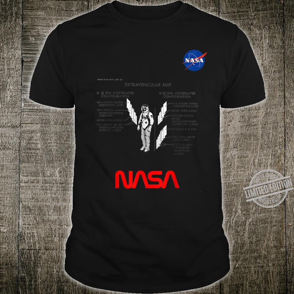 NASA Astronaut Suit Voyager in Space And Solar System Shirt