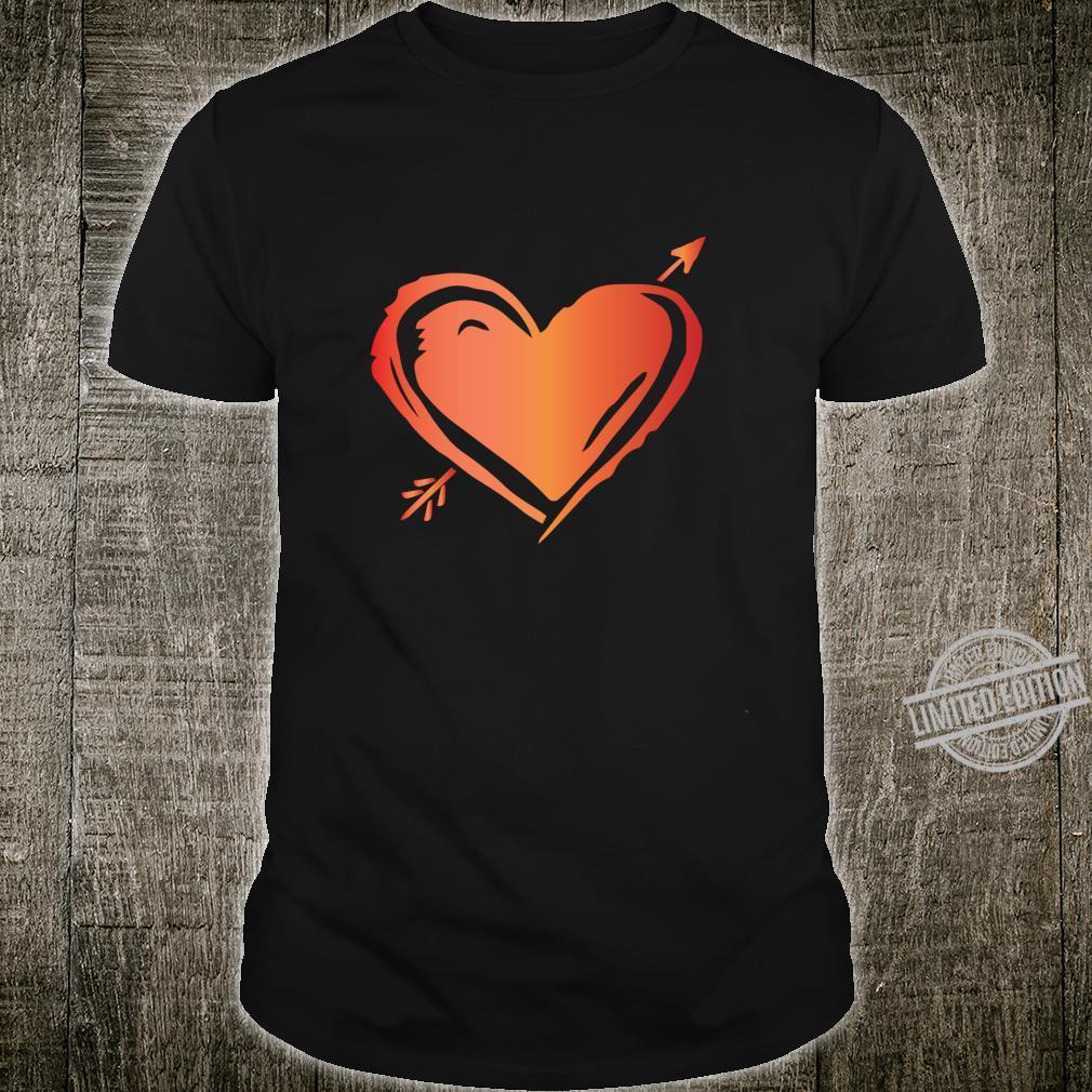 Pfeil durch das Herz Nette ValentinsgrußTagesliebe Langarmshirt Shirt