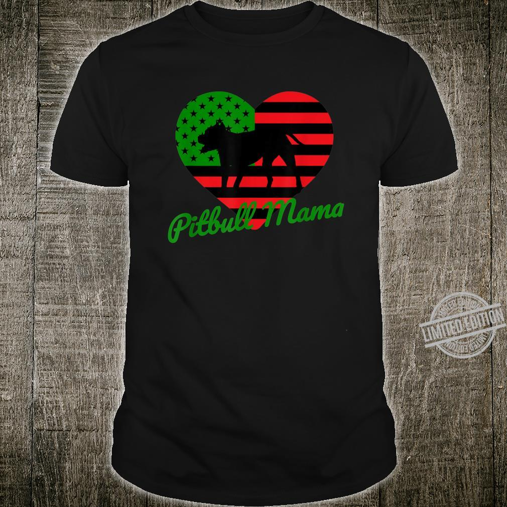 Pitbull Owner Pan African American Flag Design Juneteenth Shirt