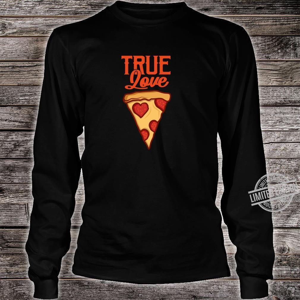 Pizza Lustig PIZZASTÜCK Pizzaliebhaber Geschenk Shirt long sleeved