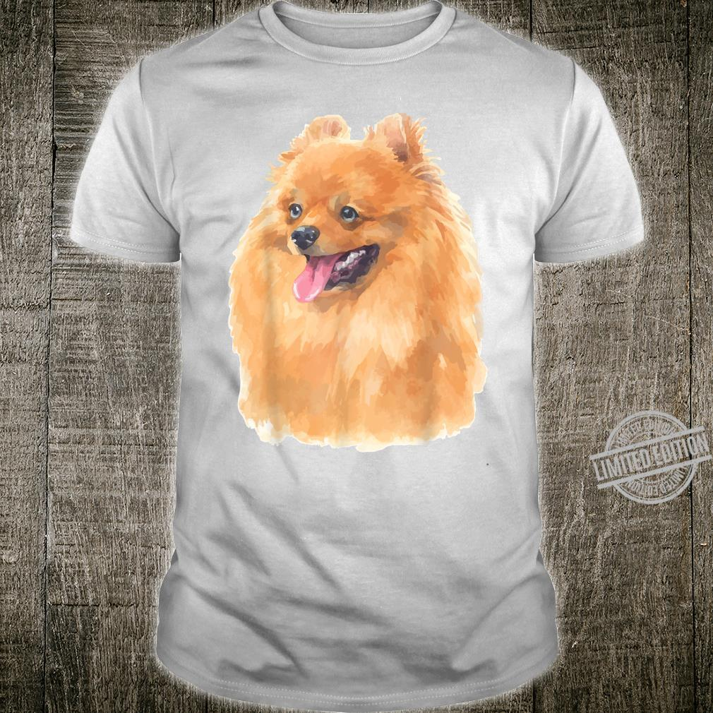 Pomeranian Dog Shirt Watercolor Art Pomeranian Dog Shirt