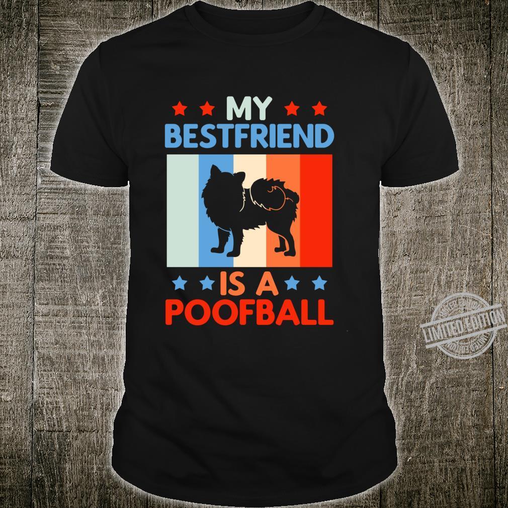Pomeranian My Bestfriend is a Poofball Pom Moms Shirt