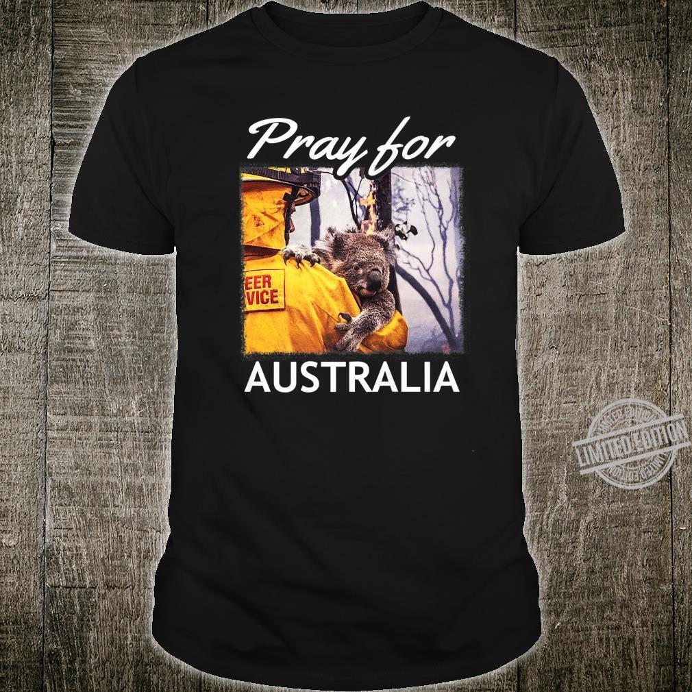 Pray for Australia Save the Koalas and Firefighter Support Shirt