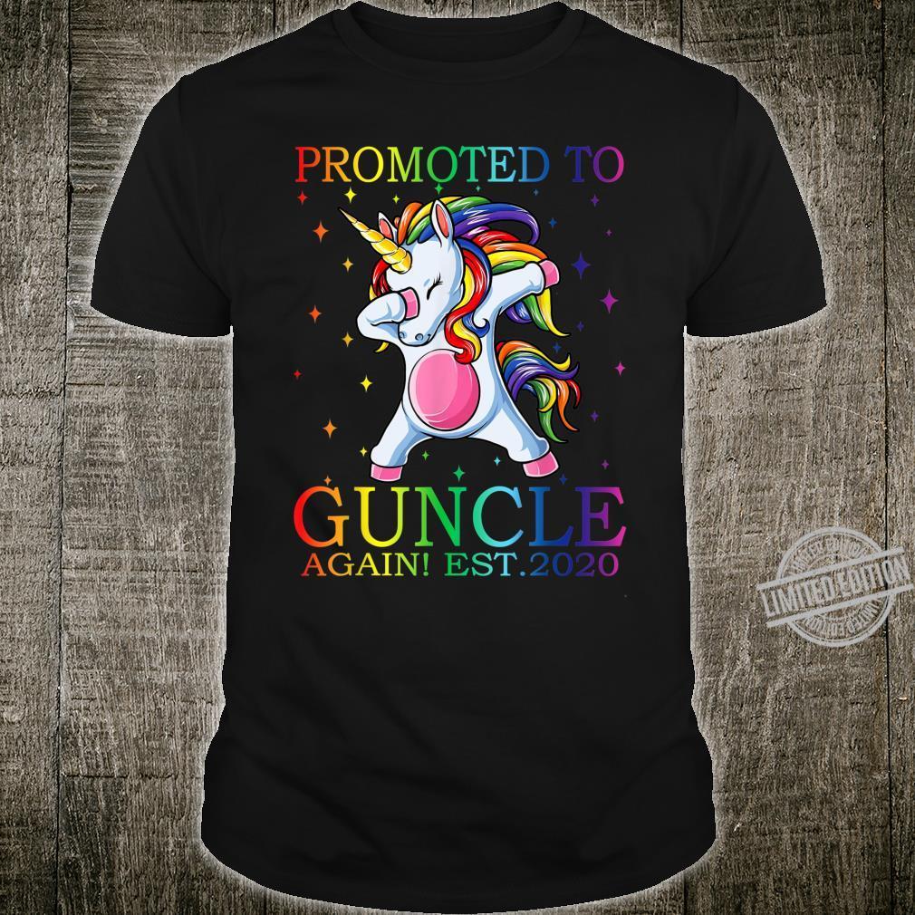 Promoted To Guncle Again Est 2020 Unicorn Shirt