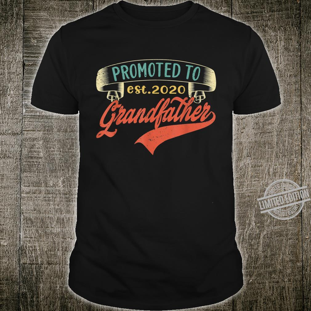 Promoted to Grandfather Est 2020 Vintage First Time Shirt