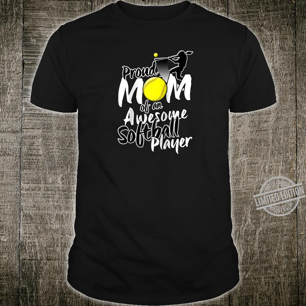 Proud Softball Mom & Mothers Day Shirt